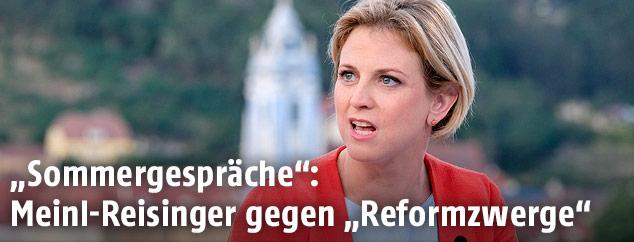 """Beate Meinl-Reisinger (NEOS) im ORF-""""Sommergespräch"""""""