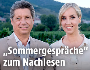 Hans Bürger und Nadja Bernhard