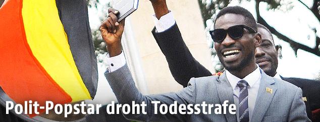 Kyagulanyi Ssentamu (Bobi Wine) nach seinem Wahlerfolg
