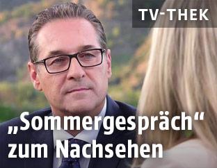 Heinz-Christian Strache bei den Sommergesprächen 2018