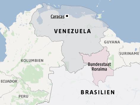 Brasilianischer Bundesstaat Roraima an der Grenze zwischen Brasilien und Venezuela