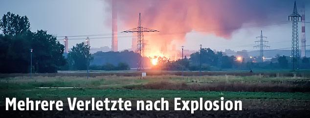 Feuer in einer Raffinerie in Ingolstadt