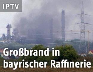 Brand in einer Raffinerie